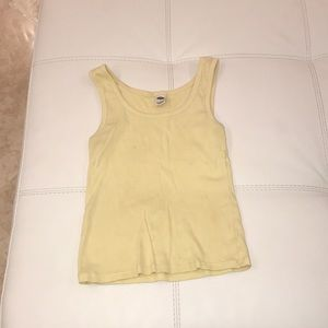 Old navy yellow tank top
